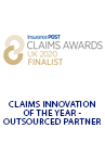 Insurance Post Claims & Fraud Awards Finalist Badge 2020