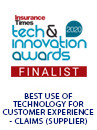 Insurance Times Tech & Innovation Awards Finalist Badge 2020